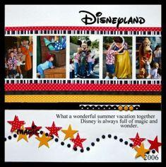 Disney scrapbook ideas  | Great Disney scrapbooking ideas.