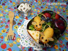 Mini Corn Dog Mice Bento | Bento Central