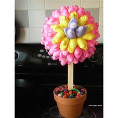 How beautiful!!!  Peep Topiary From @TheHungryMouse  #Easter #Desserts #Sweet #treats #Peeps