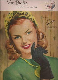 Van Raalte Glove Ad, 1947