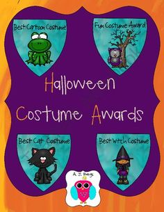 Halloween Costume Awards! Enter for your chance to win.  Halloween Costume Contest  Awards (4 pages) from AJ Bergs on TeachersNotebook.com (Ends on on 10-27-2014)  This is for a set of Halloween Costume Awards.