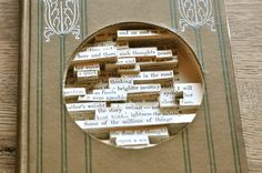 This altered #book is just too cool for words!