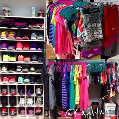 I need a place for my fitness fashion!! Love this and the jar with headbands and all!!