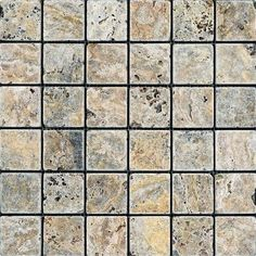 Anatolia - 2 In. x 2 In. Tumbled Scabos Travertine Mosaics - HD090 - Home Depot Canada