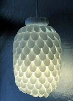 plastic spoon chandelier