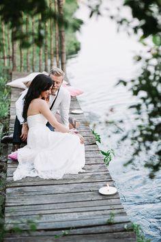 waterside portrait, photo by Cinzia Bruschini http://ruffledblog.com/intimate-italian-wedding-with-rustic-details #weddingideas