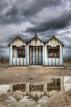 Beach cabana, Ouistreham, France