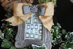 Ribbon Frame Decorative Frame. $32.00, via Etsy.