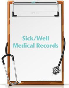 Sick and Well Visit Worksheets - Great resource for moms. T