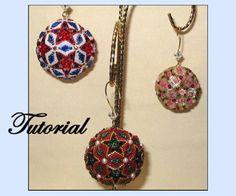 Crystal Ball Beaded Ornaments Pattern by Paula Adams AKA Visions by Paula at Bead-Patterns.com