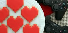 8-bit Heart Cookies - for a geek-friendly valentines day. Fun if you have little boys too.