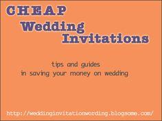 Wedding Reception Invites On Pinterest