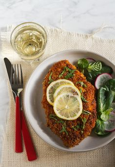 Cereal-Crusted Paprika Chicken Schnitzel Recipe