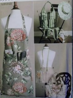 Butterick B5506 Aprons, Sleeves, Tote and Hat  Pattern, Uncut