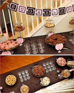 sugar and spice theme shower. cookie table.