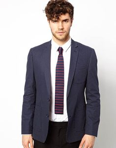 Vito Knitted Tie With Stripe