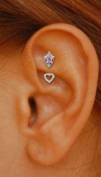 Rook piercing... So cute!!!