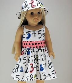 American Girl Doll Clothing 2 Piece Summer by ZigZagFashions