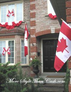 Canada day bunting
