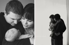 adoring look of parents
