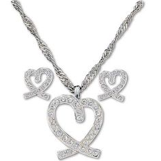 Montana Silversmith Heart Jewelry Set