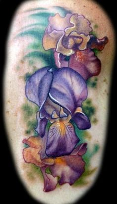 Iris Flower tattoo :
