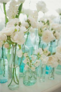 blue & white - old bottles and jars