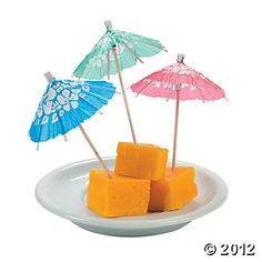 Hibiscus Cocktail Parasols, $5.25 for 144
