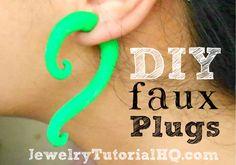 DIY Faux Earring Plugs {Polymer Clay Tutorial}
