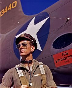 US Army Air Corps pilot, 1942. #vintage #WW2 #1940s #military