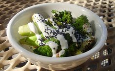 Recipe: Pan-Roasted Broccoli with a Yogurt Fennel Sauce. (Follow our other boards for detox, fitness, yoga and green living tips: pinterest.com/gaiam)