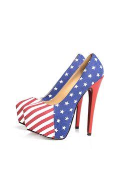 my 4 of July shoe