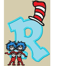Dr Seuss Cat in the Hat Applique Embroidery Design by LionDesigns, $4.99