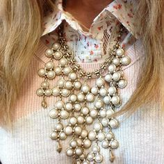 Pair your Daliah Bib Necklace with hints of pastels and floral! www.stelladot.com/alisonmaruca
