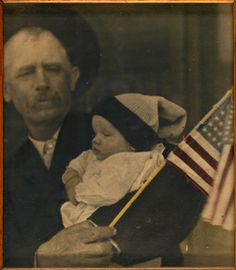 Grandad and the Kid, Kansas, 1917, unidentified photographer, photographic print with applied oil color sight 8 x 6 7/8 in. (20.2 x 17.4 cm) Smithsonian American Art Museum, Gift of Mr. and Mrs. Charles H. Moore 2002.48.29