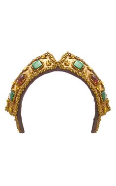 Beaded and Embroidered Czar Headpiece by Masterpeace