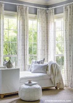Barbara Barry by Kravet fabric window panels