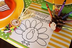 Thanksgiving KIDS table settings!