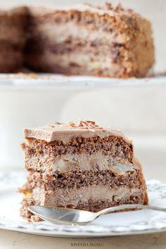 Tort Gianduia Tort orzechowy z mleczną czekoladą