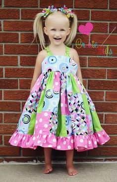 Penny's Patchwork Twirly dress PDF pattern from Create kids couture!