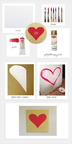 DIY gold canvas from weddingchicks