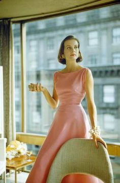 1954 love the simple lines and the folds around the armhole