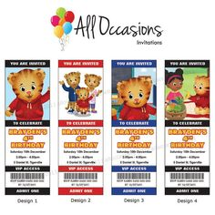 Personalised Custom Daniel Tiger Birthday by DesignsAllOccasions, $10.95