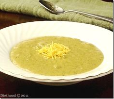 panera broccoli cheese soup copycat   www.diethood.com  #soup #recipe #broccoli #cheese