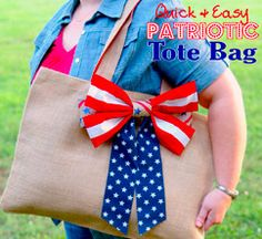 Quick & Easy Patriotic Tote Bag by The Scrap Shoppe!