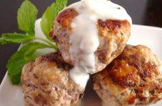 Spiced Lamb Meatballs with Lemon Mint Yogurt Sauce