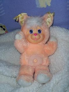 Magic Nursery Pets Peach Kitty 1990's toys dolls