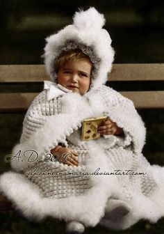 Exceptionally charming portrait of Grand Duchess Marie as a toddler.
