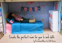 Make an American Girl mini doll room