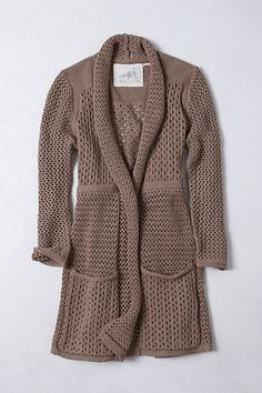 Open Knit Cardigan #anthropologie